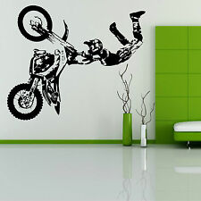 STUNT BIKE MOTORBIKE X GAMES MX MOTORCROSS DIRT BIKE Wall art room sticker decal