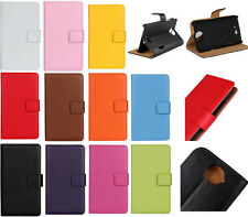 Glossy Colorful Flip Folio Slot Wallet Leather Case Cover Stand For Smart Phones
