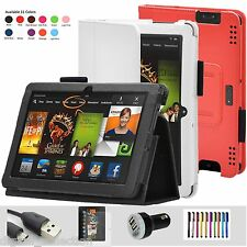 """Leather Smart Stand Case Cover for Amazon Kindle Fire HDX 8.9 inch 8.9"""" Sleep"""