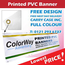PVC BANNERS - PRINTED OUTDOOR SIGN VINYL BANNERS/ADVERTISING DISPLAY- ANY SIZES!