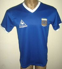 NEW VINTAGE WORLD CUP 1986 ARGENTINA MARADONA #10 RETRO AWAY SOCCER JERSEY SHIRT