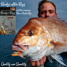 5 Snapper Rigs Fishing Rig Reedy's Rigz Bait  Tied 60lb Flathead Sea Flasher Fly