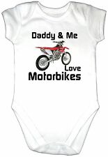 DADDY ME LOVE MOTORBIKE S Baby Grow CRF 450 Motor Cycle Dirt Trail Bike Clothes
