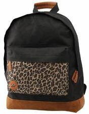 DESIGNER MI PAC BLACK LEOPARD POCKET BACKPACK RUCKSACK SCHOOL SPORTS BAG NEW