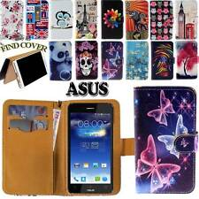 New Folio Leather Stand Card Wallet Cover Case Fit Asus PadFone & ZenFone Phones