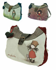 Santoro Gorjuss Slouchy Shoulder Messenger Hand Bag Cute Uni School 3 DESIGNS
