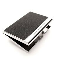 Business Card Holder Personalized Cowhide Briefs Metal Skin Card Case CX7 Black