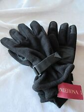 Merona Mens Black Fleece Gloves / Silicone Palms & Fingertips  XLarge