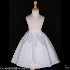 FREESHIPPING WEDDING FLOWER GIRL DRESS PETTICOAT SLIP UNDERSKIRT CRINOLINE S M L
