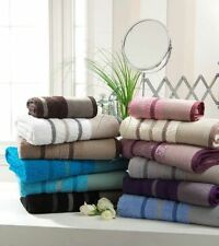 100% PREMIUM EGYPTIAN COTTON EXTRA SOFT 600 GSM PIN TUCK TOWELS 12 COLOURS
