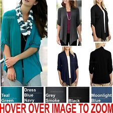 Ladies Shrug Top Business Casual Cardigan Wrap Womens Figure Flattering XS-4XL