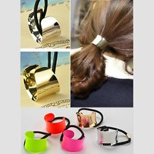 Candy Colors Ponytail Holder Women Girl Hairband Hair Band Scrunchie Rope Rings