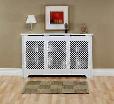 traditional classic satin white finish value radiator cover / cabinet