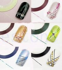 Art Decal Foil Sticker Striping Tape Self Adhesive Metallic Lines 1 Roll  Nail