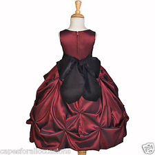 CHRISTMAS HOLIDAY PARTY BURGUNDY RED WEDDING SM LG 2 2T 3 3T 4 4T 5 5T 6 6X 8 10