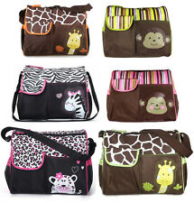 Baby Nappy Waterproof Changing Messenger Bag Giraffe/Zebra/Leopard Designs