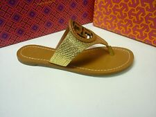 NEW! TORY BURCH LOUISA GOLD FOILED LEATHER SANDAL!!! ORIG$195