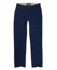 New Mens Superdry Commodity Straight Chino Trousers Nautical Navy Blue