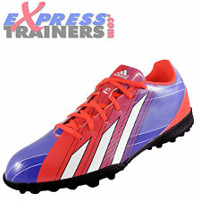 Adidas Mens F5 TRX TF Messi Astro Turf Football Trainers Blue Purple *AUTHENTIC*