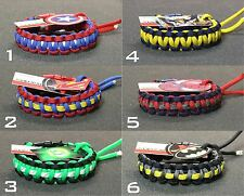 DELUXE SUPERHERO PARACORD BRACELETS / SUPERMAN / BATMAN / GREEN LANTERN IRONMAN