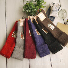 6 Or 5 Color Set Women's Knee High Wool Socks for Winter/Spring Size 7-9 Casual
