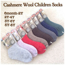 8 Pairs Children's Cashmere Wool Socks for Fall/Winter Multi Color 20% Off!