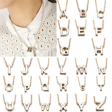 Sale Stylist Women Gift Gold plate Letter name Initial chain Pendant Necklace