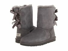 NIB Women's UGG BAILEY BOW Size 7 GRAY Boots - 1002954