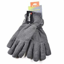 Tek Gear Microfleece Gray Winter Gloves for Men - Waterproof Thinsulate Warm Tek