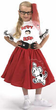 Youth Betty Boop Complete Red Circle Skirt Outfit w/ Pudgy Chenille