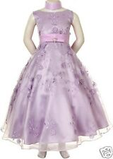 New Children Girl Teen Pageant Prom Party Holiday Formal Dress Sz 10 12 14 Lilac
