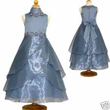 New Girl Pageant Wedding Formal Graduation Perry Blue dress size 4 6 8 10 12 14