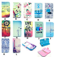 Fashion Patterned Design Leather Wallet Soft Case Cover For Samsung Smart Phones