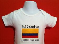 1/2 Colombian is better than none! Colombia  Carter's Baby Bodysuit Embroidery