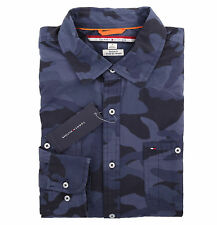Tommy Hilfiger Men Long Sleeve Custom Fit Button Down Casual Shirt -Free $0 ship