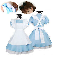 Girls Fairy Tale Alice Sexy Lolita Cosplay French Maid Waitress Costume Dresses