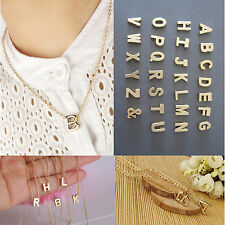Initial Stylist Women Gift Gold plate Letter name chain Pendant tinsel Necklace