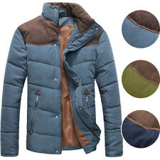 Fashion Mens Winter Warm Slim Fit Coat Thicken Padded Stand Collar Jacket Tops