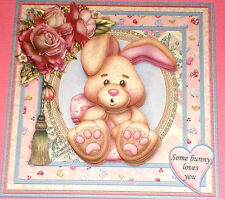 Handmade Greeting Card 3D All Occasion With A Bunny