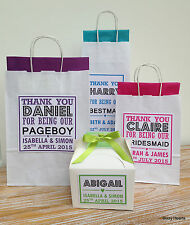PERSONALISED PAPER WEDDING GIFT BAGS PARTY FAVOUR WITH TISSUE