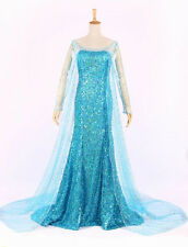 Movie Frozen Princess Queen Elsa Cosplay Costume Party Fancy Dress for Adult NEW