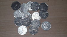 50P COINS - RARE AND COLLECTABLE COMMEMORATIVE - VARIOUS DESIGNS