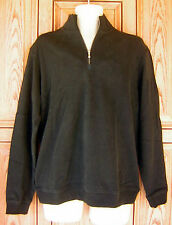 Tommy Bahama Eversuede 1/2 Zip Pullover Pima Cotton Black Sweater NWT MSRP $148