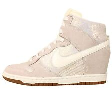 Nike Wmns Dunk Sky Hi PRM Premium Luster Sail Womens Fashion Wedges Casual Shoes