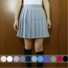 Japanese School Girls Sailor Uniforms Solid Pleated College Cosplay Mini Skirts0