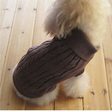 Winter Pet Dog Cat Warm Knitwear Sweater Small Puppy Coat Apparel