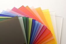 Colour Perspex Frosted Acrylic Plastic Sheet Panel, Bespoke Size, A5,A4,A3+MORE!