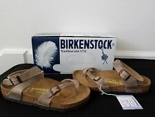 New Birkenstock Women's Yara Oiled Leather Ankle Strap Sandals Tobacco 42