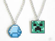 Minecraft Necklaces CREEPER AND DIAMOND Plus SPECIAL OFFER FOR BOTH £4.49 TO..