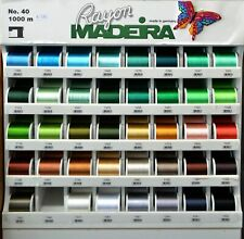 Madeira Rayon 40 Machine Embroidery Thread 1000m Spool (Lower Case Colours)